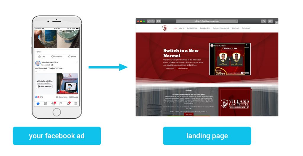 ad-landing page graphic